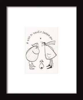 Zarámovaný plakát Sam Toft - A Kiss to Hang a Dream On