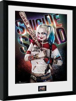 Zarámovaný plakát Sebevražedný oddíl - Suicide Squad - Harley Quinn Good Night