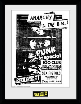 Zarámovaný plakát Sex Pistols - 100 Club