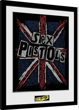 Zarámovaný plakát Sex Pistols - Flag