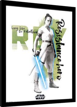Zarámovaný plakát Star Wars: Episode IX - The Rise of Skywalker - Rey