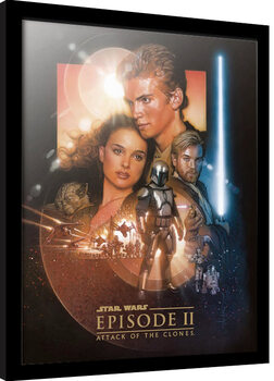 Zarámovaný plakát Star Wars: Epizoda II - Klony útočí