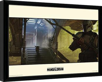 Zarámovaný plakát Star Wars: The Mandalorian - Explore