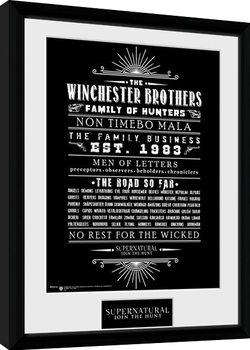 Zarámovaný plakát Supernatural - Family Business