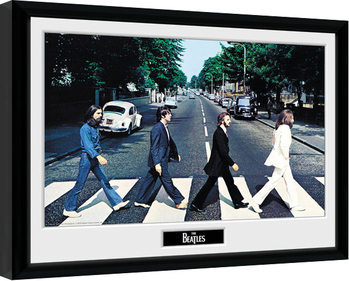 Oprawiony plakat The Beatles - Abbey Road