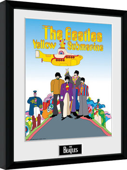 Zarámovaný plakát The Beatles - Yellow Submarine