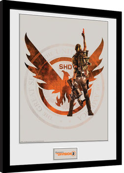 Oprawiony plakat The Division 2 - SHD