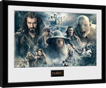 Zarámovaný plakát The Hobbit - Battle of Five Armies Collage