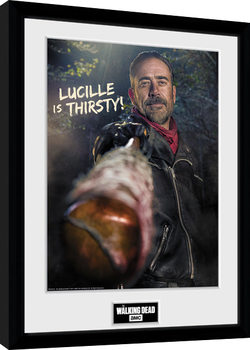 Oprawiony plakat The Walking Dead - Negan Thirsty