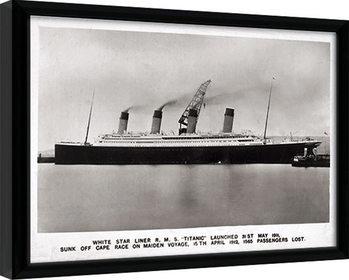 Oprawiony plakat Titanic (1)