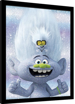 Zarámovaný plakát Trollové: Světové turné - Guy Diamond and Tiny