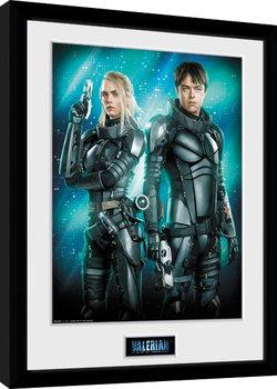 Oprawiony plakat Valerian i Miasto Tysiąca Planet - Duo