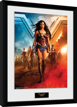 Oprawiony plakat Wonder Woman Movie - Group