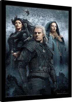Zarámovaný plakát Zaklínač (The Witcher) - That Which You Can't Outrun