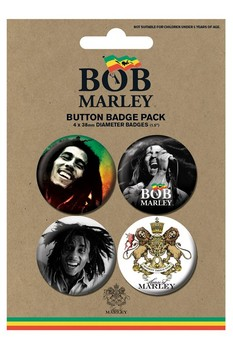Odznaka BOB MARLEY - photos