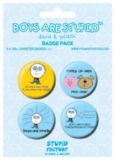 Odznaka BOYS ARE STUPID
