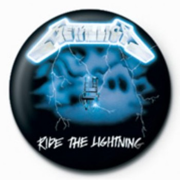 Odznaka METALLICA - ride the lightening GB