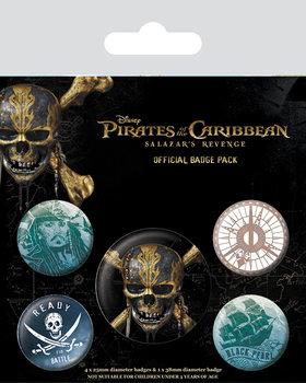Zestaw przypinek Piraci z Karaibów - Skull