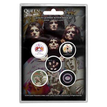 Zestaw przypinek Queen - Early Albums