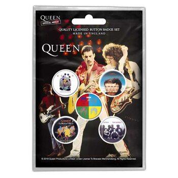 Zestaw przypinek Queen - Later Albums