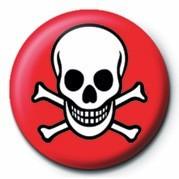 Odznaka SKULL & CROSSBONES (RED &