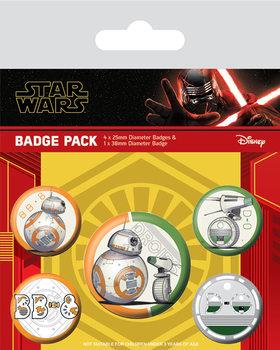 Zestaw przypinek Star Wars: Skywalker - odrodzenie - Droids