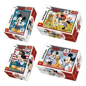 Puzzle Musse Pigg (Mickey Mouse) 4in1