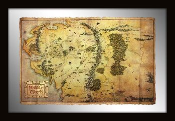 The Hobbit - Middle Earth Map Ogledala