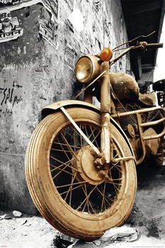 Old motorcycle плакат