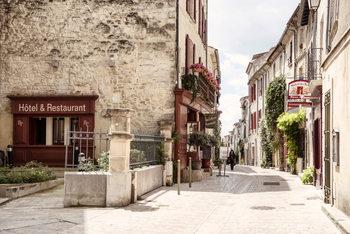 Exkluzív Művész Fotók Old Provencal Street in Uzès