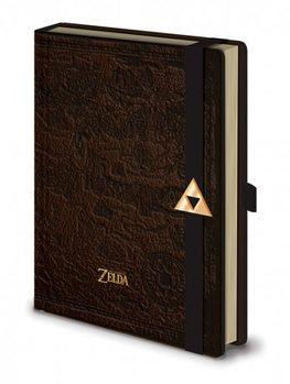 The Legend Of Zelda - Hyrule Map Premium A5 Notebook  Olovka
