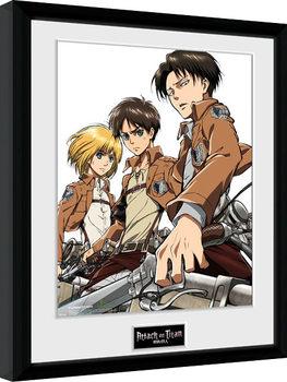 Attack On Titan - Trio oprawiony plakat