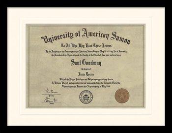 Better Call Saul - Diploma oprawiony plakat