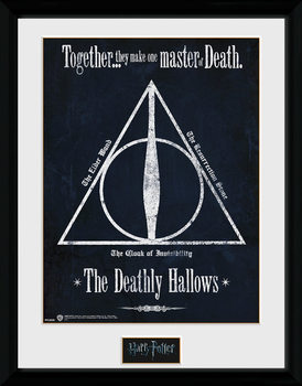 Harry Potter - The Deathly Hallows oprawiony plakat