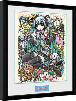 Hatsune Miku - Kawaii oprawiony plakat