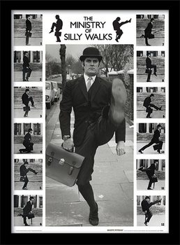 MONTY PYTHON - ministry of silly walks oprawiony plakat