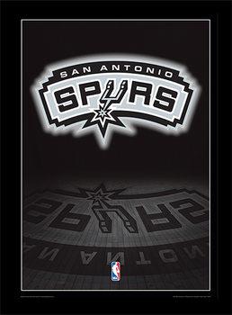 NBA - San Antonio Spurs Logo oprawiony plakat