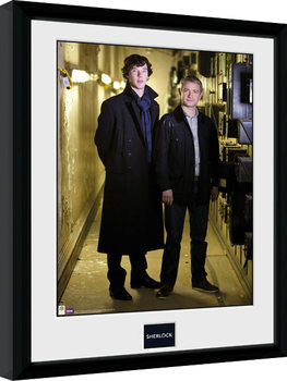 Sherlock - & Watson Portrait oprawiony plakat