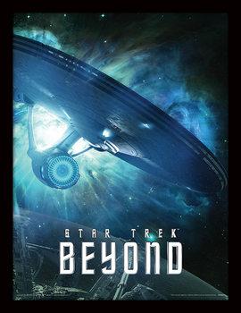 Star Trek: W nieznane - Enterprise oprawiony plakat