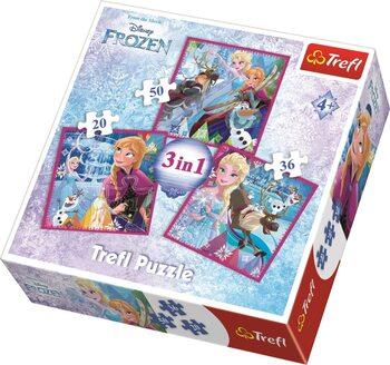 Puzzle Ľadové kráľovstvo 3in1