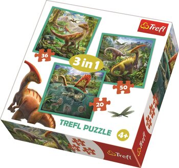Puzzle The Extraordinary World of Dinosaurs 3in1