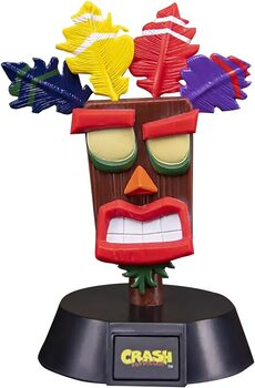 Figurita brillante Crash Bandicoot - Aku Aku