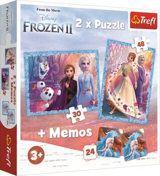 Puzzle Frozen, el reino del hielo 2 2in1 + Memos