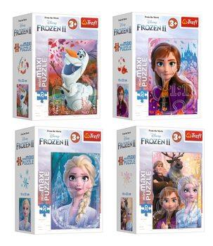 Puzzle Frozen, el reino del hielo 2 4in1