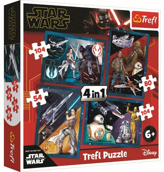 Puzzle Star Wars: El ascenso de Skywalker 4in1