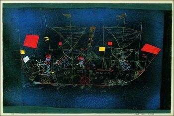 P.Klee - Das Abenteurershiff Festmény reprodukció