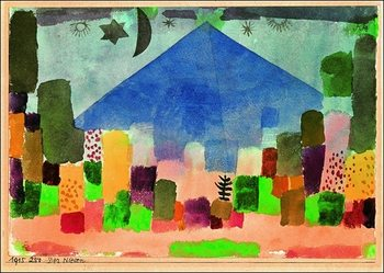 P.Klee - Der Niesen Festmény reprodukció