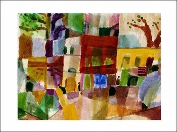 P.Klee - Maisons Rouges Festmény reprodukció