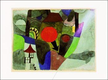 P.Klee - Mit Der Sinkenden Sonne Festmény reprodukció