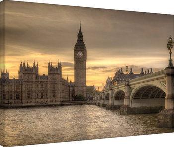 Rod Edwards - Autumn Skies, London, England På lærred
